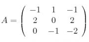 A =